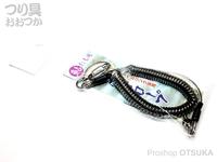 シミズ 尻手ロープ - 鮎たも用 #クリアブラック スィーベルリング採用