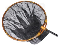 シミズ 竹製へらタモ - - ブラックAJ 尺1寸/2mm
