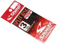 ささめ針 シャウト スプリットリング - 75-SR  サイズ3 強度50lb