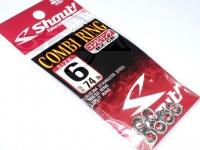 ささめ針 シャウト コンビリング - 82-CR - サイズ6