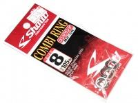 ささめ針 シャウト コンビリング - 82-CR - サイズ8