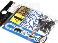 ささめ針 インター付パワーステンスイベル - 210-C ブラック 4号