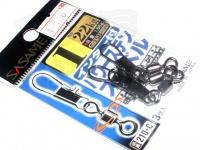 ささめ針 インター付パワーステンスイベル - 210-C ブラック 1号
