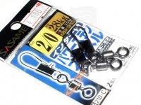 ささめ針 インター付パワーステンスイベル - 210-C ブラック 2/0号