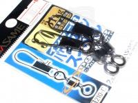 ささめ針 インター付パワーステンスイベル - 210-C ブラック 3/0号