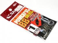 ささめ針 シャウト パワフルBBスイベル - 412PB #シルバー サイズ#1 103lb