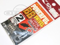 ささめ針 シャウト パワフルBBスイベル - 412PB #シルバー サイズ#2