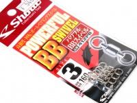 ささめ針 シャウト パワフルBBスイベル - 412PB #シルバー サイズ#3