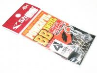 ささめ針 シャウト パワフルBBスイベル - 412PB #シルバー サイズ#4