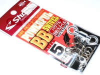 ささめ針 シャウト パワフルBBスイベル - 412PB #シルバー サイズ#5