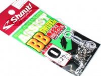 ささめ針 シャウト アシストBBスイベル - 414AB #シルバー サイズ#0