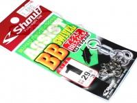ささめ針 シャウト アシストBBスイベル - 414AB #シルバー サイズ#1