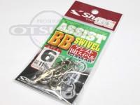 シャウト アシストBBスイベル - 414AB  サイズ #6 変形強度116lb