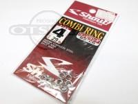 ささめ針 シャウト コンビリング - 82-CR - サイズ4