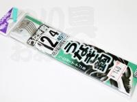ささめ針 うなぎ鈎 - AA210 ブラック 鈎:12号 ハリス:4号45cm付