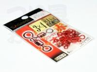 ささめ針 パワーステンオヤコ - 210-P #赤 3×4号