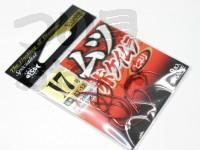ささめ針 ムツ鈎 赤ケイムラ - MT-12 #赤 17号 ヒネリ