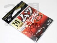 ささめ針 ムツ鈎 赤ケイムラ - MT-12 #赤 19号 ヒネリ