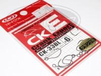 ヴァンフック シングルフック - ヴァンフック クランクエキスパートフック CK-33BL #ステルスブラック #6