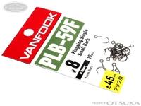 ヴァンフック スプーンエキスパートフック - プラッギングシングルスモールバーブ PLB-59F # フッ素ブラック #8 太軸