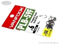 ヴァンフック スプーンエキスパートフック - プラッギングシングルスモールバーブ PLB-59F # フッ素ブラック #6 太軸