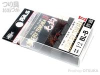 宇崎日新 ライトフライテンカラ毛針 II -  普通 #BL-B バーブレス フックサイズ#12 3個入り