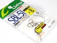 カルティバ シングルフック - カルティバ SBL-51 #ブラック #8
