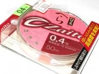 オーナー ザイトへらハリス - ZA-60 #クリア 0.4号