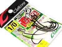 カルティバ ジカリグ リングドフック - JR-11 #ブラッククローム フックサイズ1/0