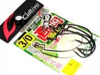 カルティバ ジカリグ リングドフック - JR-11 #ブラッククローム フックサイズ3/0
