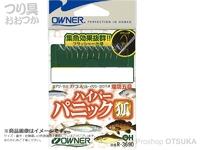 オーナー ハイパーパニック狐 - R-3690 #金鈎×3本 茶鈎×4本 1.5号 ハリスフロロ0.3号 幹糸0.4号