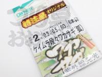 オーナー ケイムラ段々ワカサギ 狐 - 嶋屋オリジナル  秋田狐2号 ハリス0.3号 幹糸0.5号