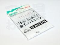 オーナー 赤ラメパニック - 嶋屋オリジナル 全長100cm 狐1.5号ハリス0.4号 幹糸0.6号