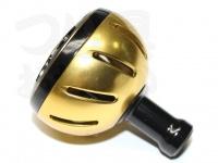 スポーツライフプラネッツ カラーノブ - カラーアルミラウンドノブ #ゴールド ハンドルノブM交換可能機種