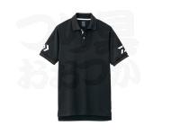 ダイワ 半袖ポロシャツ - DE-7906 #ブラック×ホワイト M