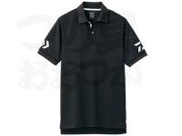 ダイワ 半袖ポロシャツ - DE-7906 #ブラック×ホワイト Lサイズ