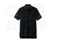 ダイワ 半袖ポロシャツ - DE-7906 #ブラック×レッド L