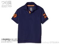 ダイワ 半袖ポロシャツ - DE-7906 # ネイビー/チェリートマト サイズ:M