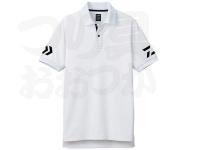 ダイワ 半袖ポロシャツ - DE-7906 #ホワイト/ブラック 2XLサイズ