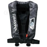 ダイワ ウォッシャブルライフジャケット ウエストタイプ手動・自動膨張式 - DF-2207 #ブラックカモ フリー