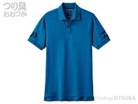 ダイワ 半袖ポロシャツ - DE-7906 # モロッカンブルー/ネイビー Lサイズ