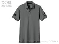 ダイワ 半袖ポロシャツ - DE-7906 #ガンメタル/ブラック XLサイズ