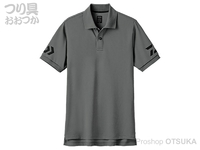 ダイワ 半袖ポロシャツ - DE-7906 #ブラック×ガンメタル 2XLサイズ