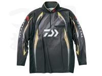 ダイワ スペシャル アイスドライ ジップアップ長袖メッシュシャツ - DE-70009 #マグマブラック サイズM