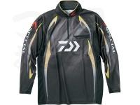 ダイワ スペシャル アイスドライ ジップアップ長袖メッシュシャツ - DE-70009 #マスターブラック サイズXL