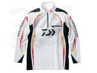 ダイワ スペシャル アイスドライ ジップアップ長袖メッシュシャツ - DE-70009 #ホワイト サイズXL