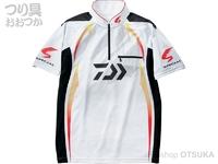 ダイワ スペシャル アイスドライ ジップアップ半袖メッシュシャツ - DE-71009 #ホワイト サイズXL