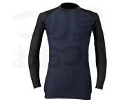 ダイワ UVカット クールアンダーシャツ (クルーネック) - DU-61009S #ブラック サイズS