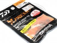 ダイワ プレッソ シングルフック - プレッソシングルフックSSプロパック エアースピード ブラック  サクサス #6