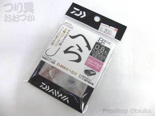 ダイワ D-MAXヘラV糸付 P-マルチ 鈎8号-ハリス0.8号90cm #シルバー
